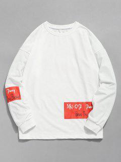 Casual Slogan Graphic Printed T-shirt - White 2xl