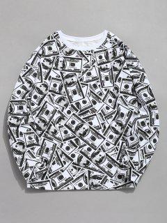 Allover American Dollar Print Sweatshirt - Multi 2xl