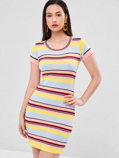 Striped Sweater Dress - Multi L