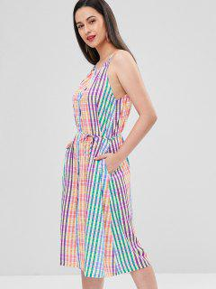 Cami Plaid Button Up Dress - Multi L