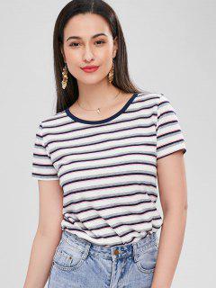 Striped T-shirt - Multi M