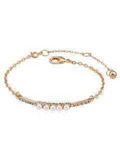 Faux Perle Décoration Bracelets De Chaînes - Or