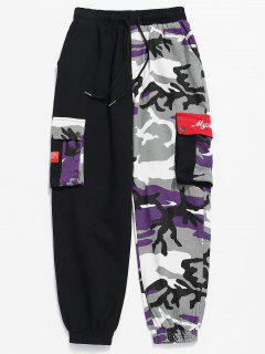 Camo Patchwork Multi Pockets Pants - Acu Camouflage S