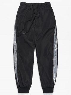 Side Zipper Pockets Waterproof Pants - Black Xs