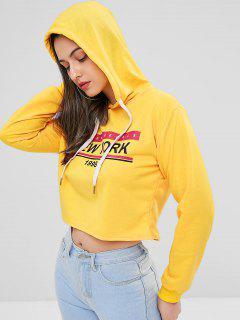 New York Graphic Hoodie - Sun Yellow M
