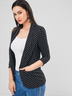 Polka Dot Pocket Blazer - Black L