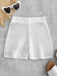 Shorts Crochet Transparent - Blanc