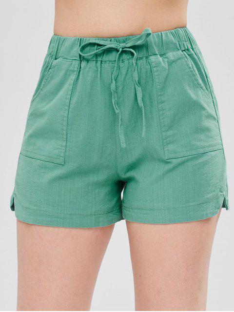 Shorts con cordones con muesca - Verde de Mar Ligero S Mobile