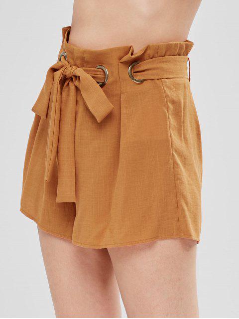 Short large à ceinture - Jaune d'Abeille S Mobile