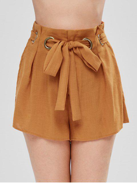 Short large à ceinture - Jaune d'Abeille XL Mobile