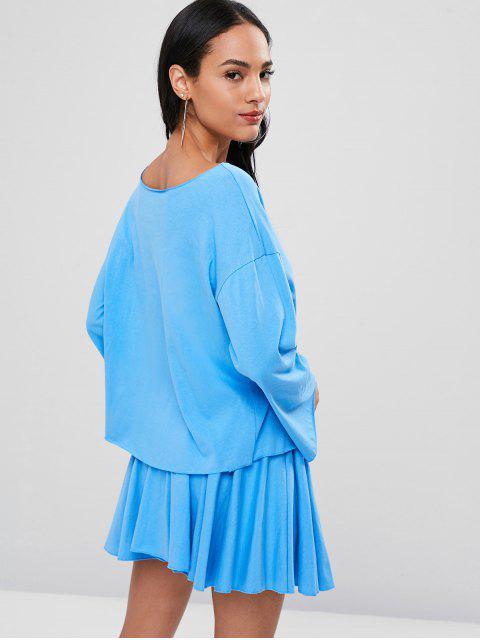 Ensemble de T-Shirt et de Mini Jupe à Manches Longues - Bleu de Ciel  Taille Unique Mobile