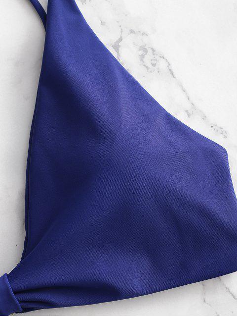 Ensemble De Bikini Nœud Jambe Haute - Bleu Foncé Toile de Jean L Mobile