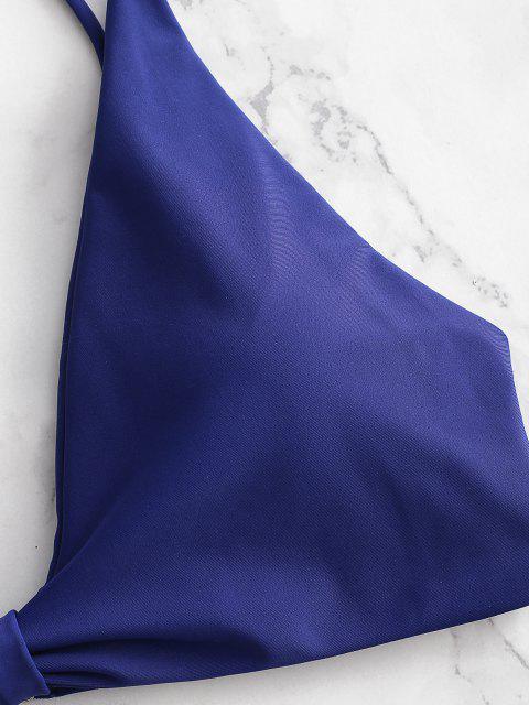 shops High Leg Knot Bikini Set - DENIM DARK BLUE S Mobile