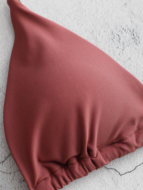 ZAFUL Bikini à Bretelle à Col Halter - Finch Rosé M Mobile