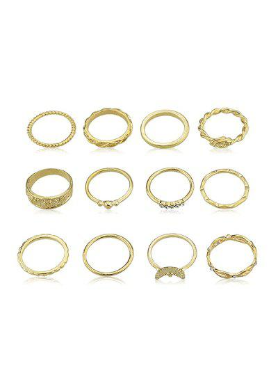 Imagem de 12Pcs Rhinestone Decoration Ring Set