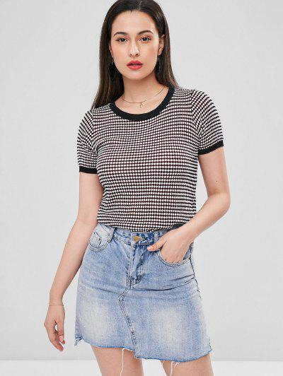 Contrast Trim Knitted Tee