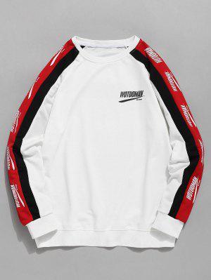 Raglan-Hülsen-Buchstabe Stripes Sweatshirt
