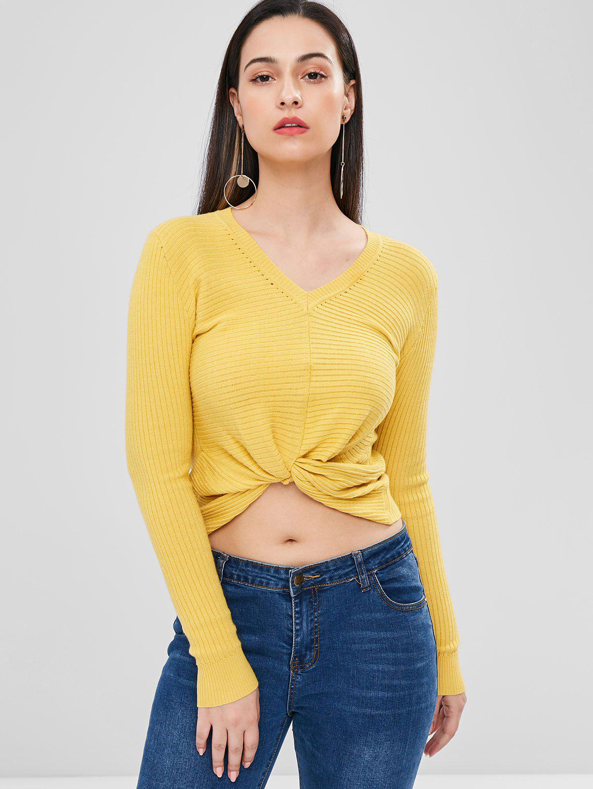 Ribbed Twisted Sweater