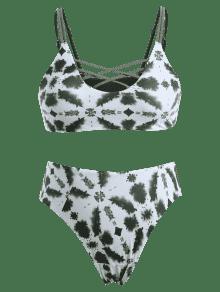 Y Te Bikini Alto Grande Con De ido Multicolor Talla 2x Entallado Corte Anudado pgwOaFHq