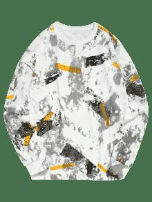 Cuello De Y Con Estampado Redondo Sudadera M x7TwZ5