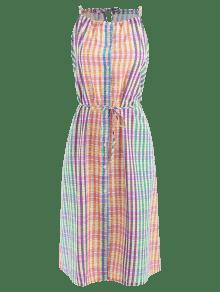 Multicolor A S Cami Cuadros Vestido Camisero wICYqCH
