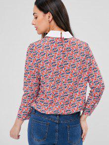 Cebra Blusa S Multicolor Espalda Con Estampada Estampada fOHwf17