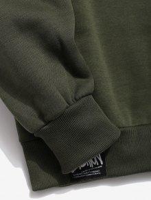 Cuello M Ejercito Fleece Camo V En Con Verde Camuflaje Sudadera 5gB4wzRWqx