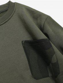 Fleece Con Ejercito Camuflaje En Verde V M Cuello Sudadera Camo pqYwYFd