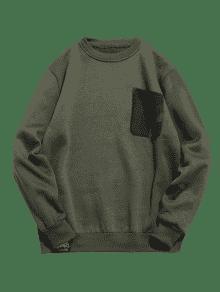 Fleece V Con Ejercito Verde Sudadera Cuello En M Camuflaje Camo 4w6TBYvqa