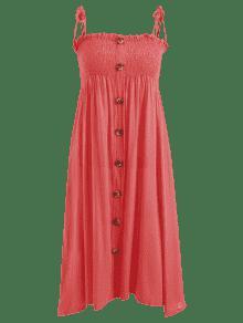 Rojo Descubiertos Con Vestido Frijol S Hombros Camisero qITT6