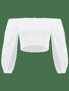 Blusa Con Blusa Blanco Descubiertos Hombros Con pd4a8q