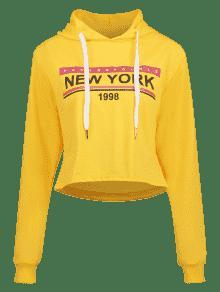 Graphic Sudadera De York S Nueva Sol Con De Amarillo Capucha EArw4A