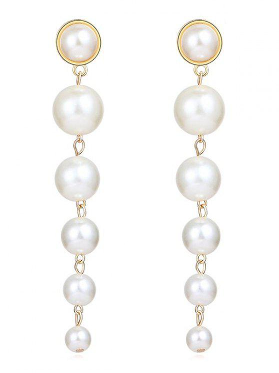 Künstliche Perlen-Tropfen -Ohrringe - Weiß