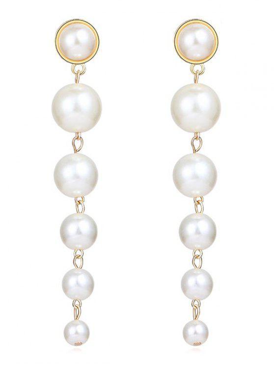 online Artificial Pearls Drop Earrings - WHITE