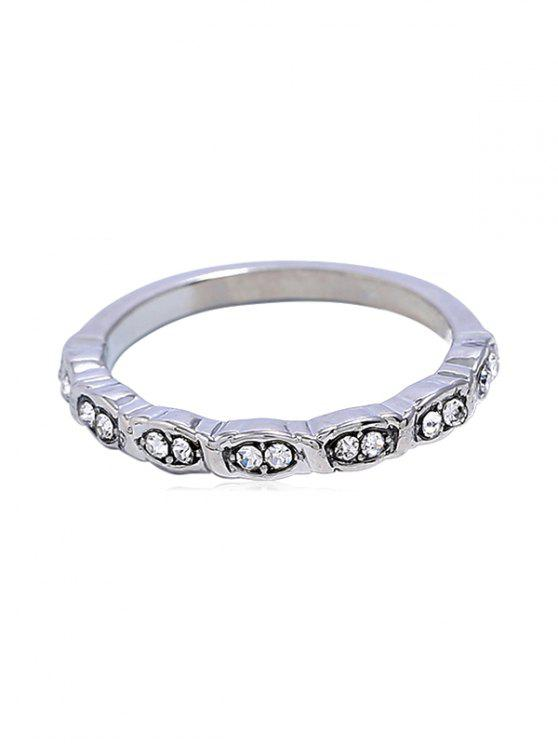 Bague en strass style simple - Argent