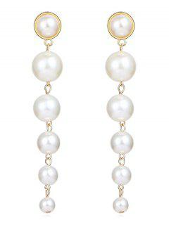 Artificial Pearls Drop Earrings - White