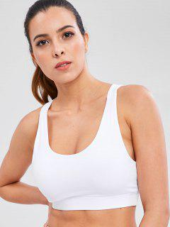 Y Back Sports Gym Bra - White L