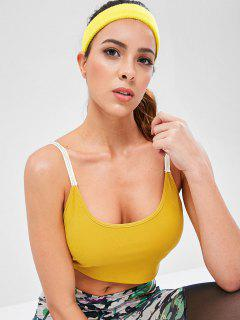 Padded Twist Back Sport Cami Top - Rubber Ducky Yellow M