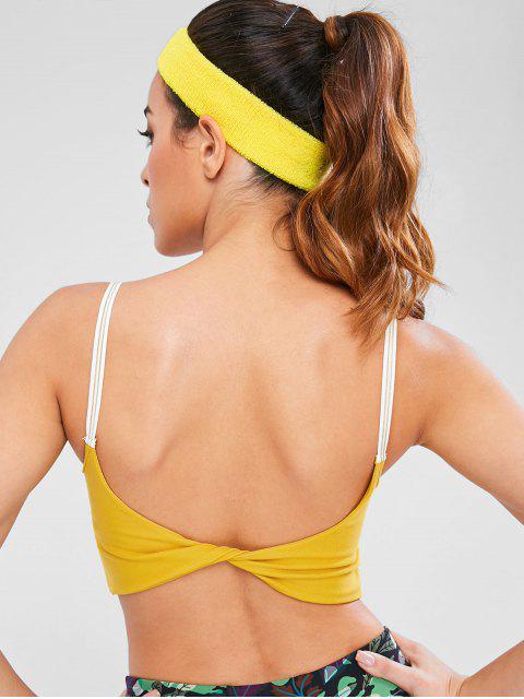 Top acolchado con capucha y espalda deportiva de Cami - Caucho Ducky Amarillo L Mobile