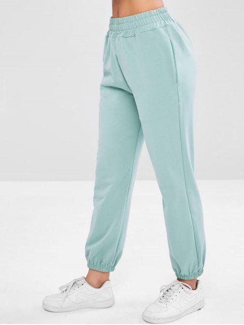 Pantalones deportivos para correr el sudor - Azul Opaco L Mobile