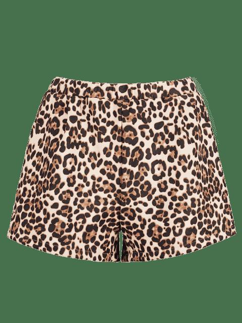 Short en daim à imprimé léopard - Léopard M Mobile