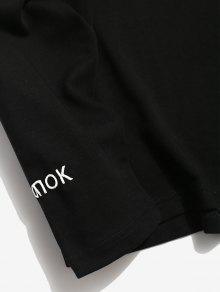 M Camiseta Negro Con Laterales El Carta Bordada Tipo 225;stica Rayas wqZB8grzw