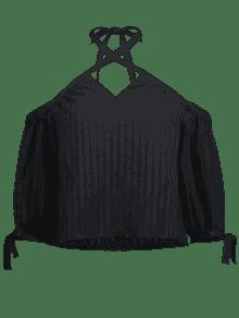 Con Lazo De S Tirantes Negro Blusa 1qEzvt