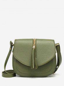 حقيبة كروس صغيرة بحمالة أنيقة - أخضر