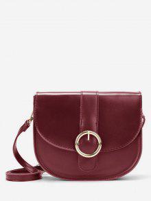 حقيبة الرافعة المعدنية الرجعية - نبيذ احمر