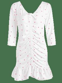 Vestido Blanco Mini Dots S Ce ido ZWPIqYFd