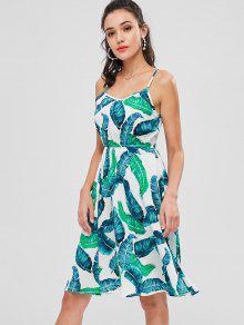 Multicolor De 237;nea Palm Cami ZAFUL Un S Leaves L Vestido qx168SwB