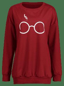 M Vino Cute Tinto Sudadera Glasses wgOqpIpS