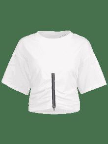 Camiseta Blanco Cierre Cremallera S Con De 7xgrwB70