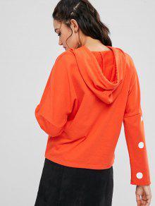 Drawstring S Hoodie Dot Polka Naranja rvqarI
